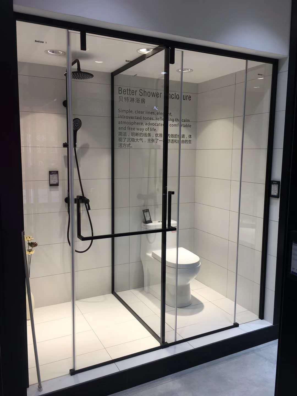 贝特超白水晶玻淋浴房一门两用03系列热销款淋浴房