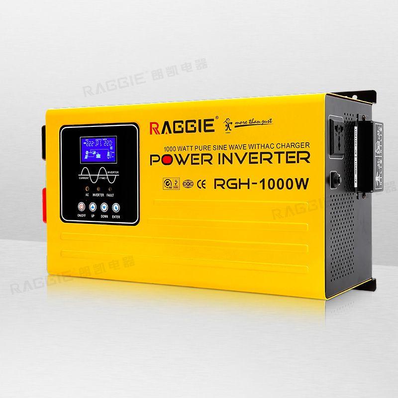 纯正弦波逆变器,带液晶显示屏,带AC充电 RGH-1000W 12V-110/220V