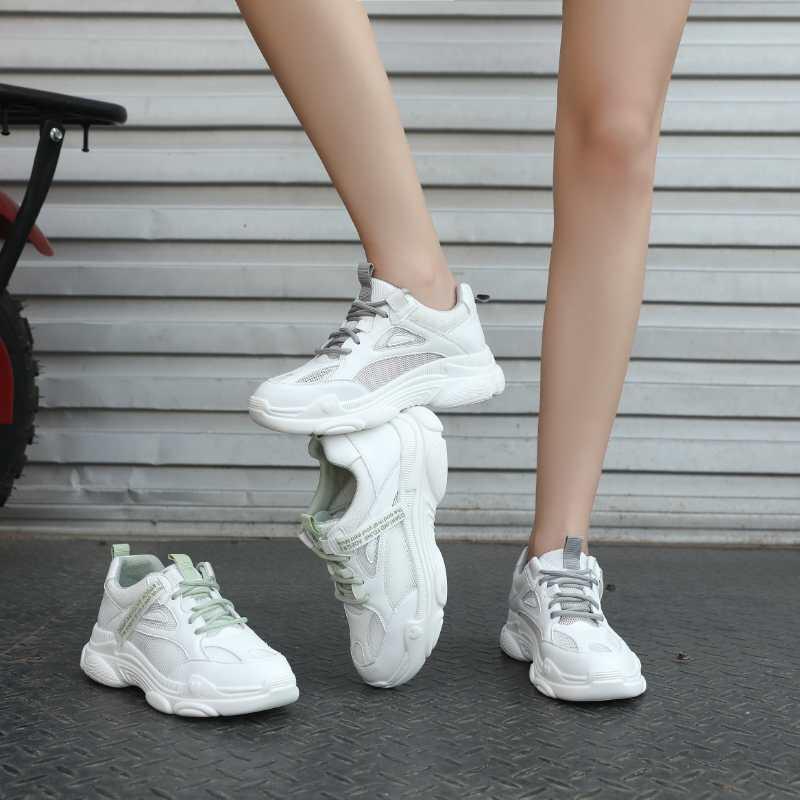 广州鞋捷安娜2572-1白绿,白灰两色35一40码爆款
