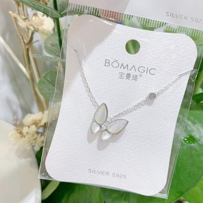 蝴蝶银项链