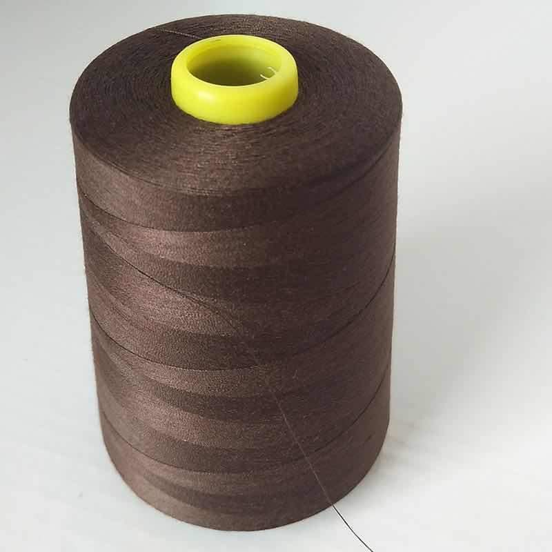 深棕色系@厂家直销402细线7500码涤纶缝纫线宝塔线