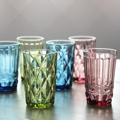 【厂家直销 彩色玻璃杯创意杯喝水杯果汁杯茶杯子啤酒杯漱口杯简单