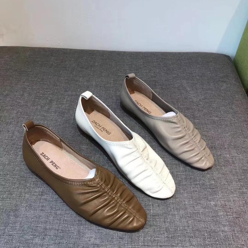 韩国真皮单鞋脚感超级软