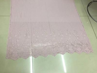 镂空花边长巾粉色