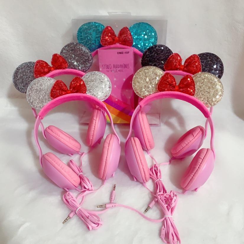 DMZ-10F蝴蝶结粉色卡通头戴式可爱礼品耳机