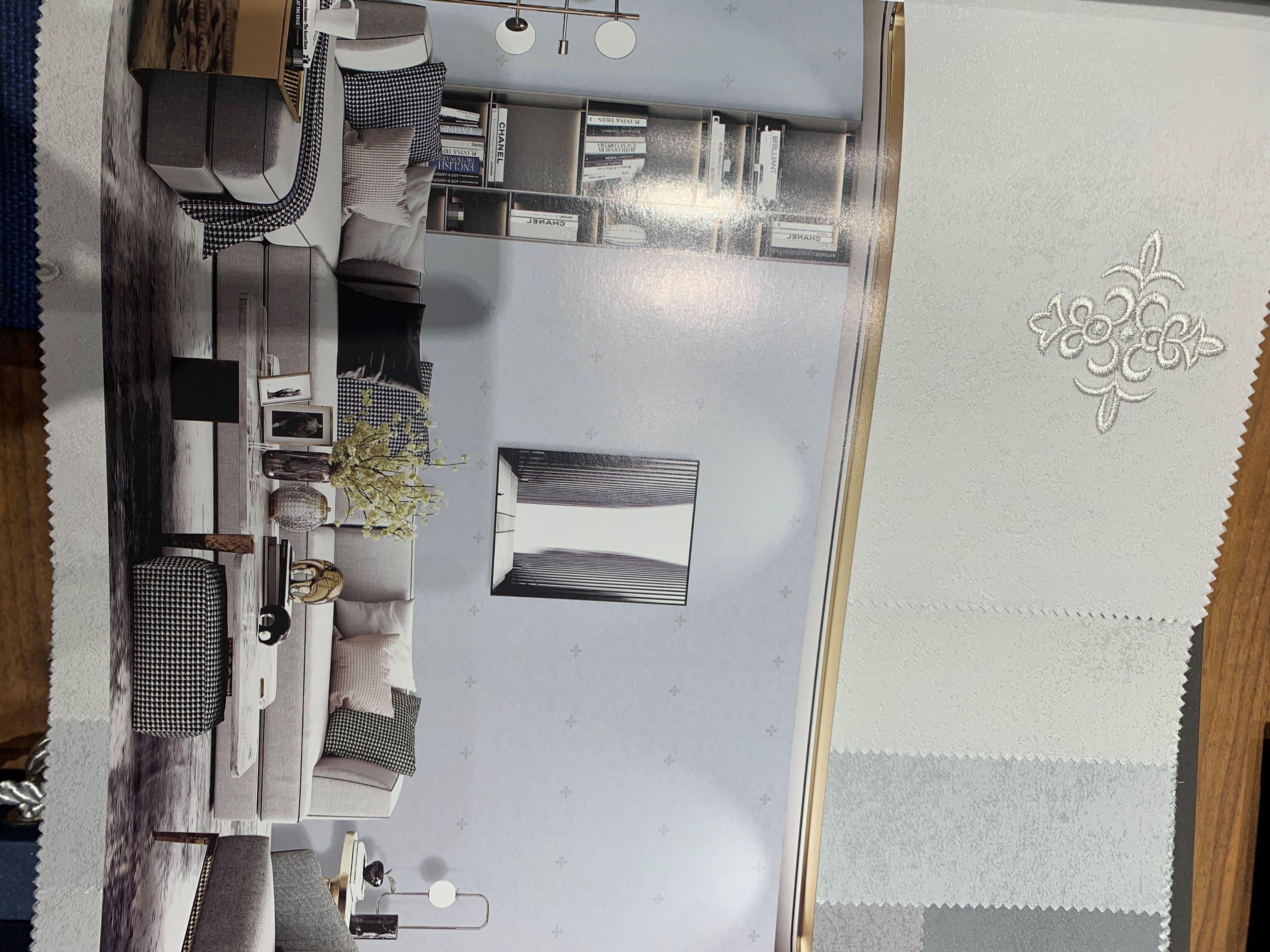 轻奢现代欧式棉麻高精密提花墙布防污防皱防刮防霉处理新型墙布