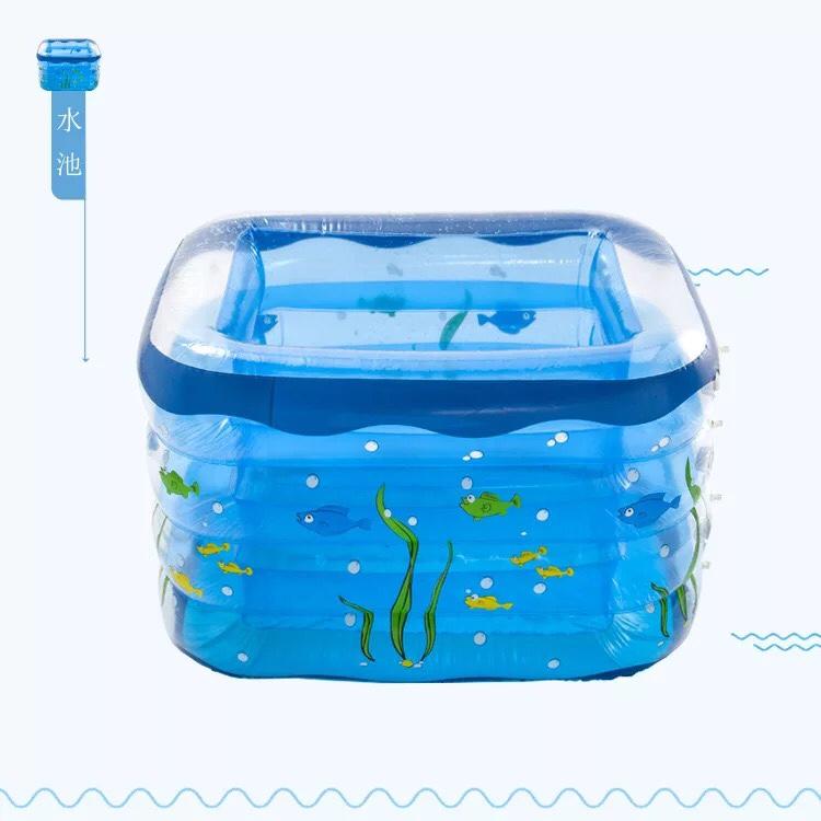 儿童充气四环游泳池