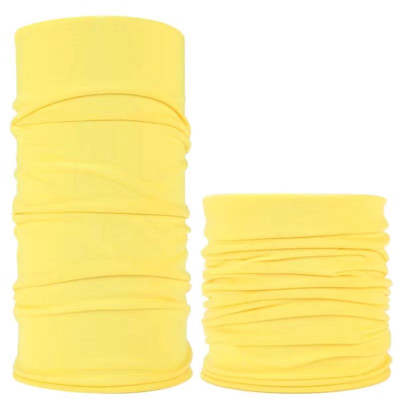 纯色魔术头巾骑行头巾无缝工艺针织头带束发带