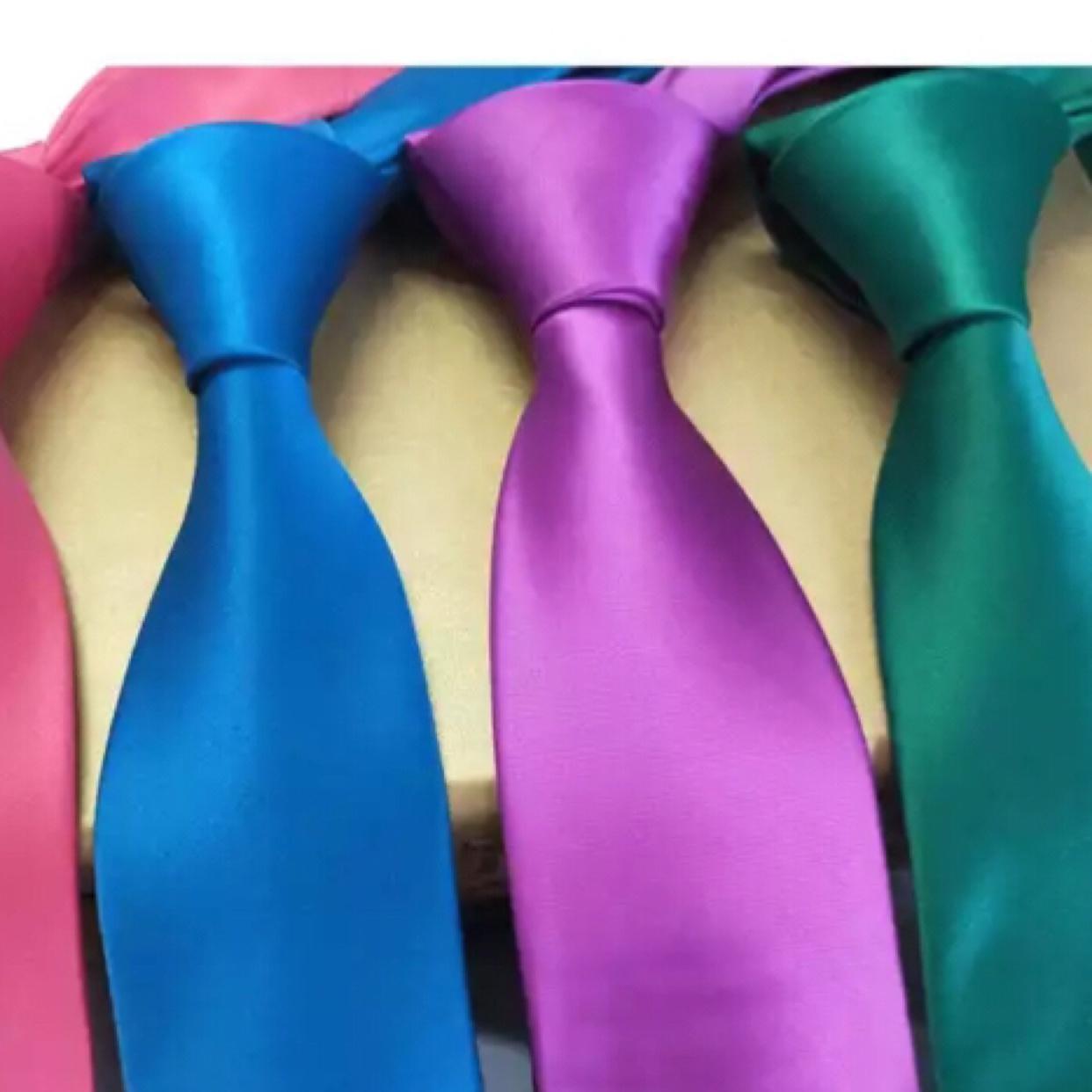 纯色男士领带多色可定制一码色涤纶编织提花领带工厂
