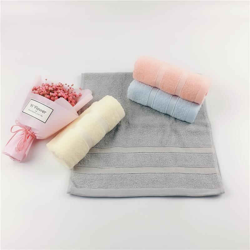 申朵  纯棉缎边小亮丝毛巾 成人家居通用