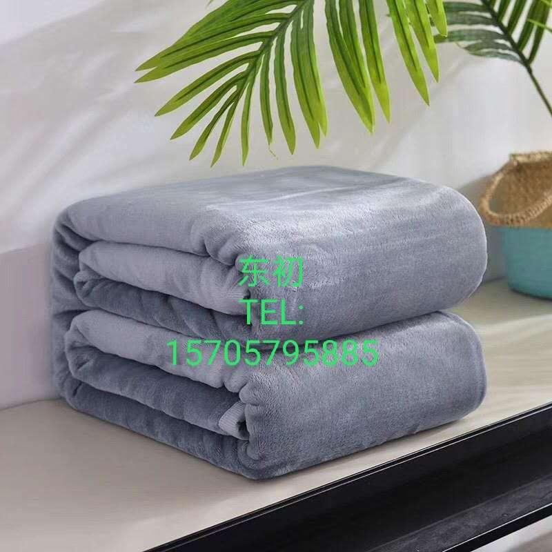 素色法兰绒毛毯绒毯盖毯单色毯纯色法兰绒