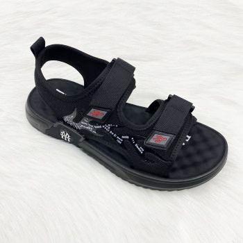 女王鞋贸2020爆款定制网面印花透气按摩底男士户外沙滩凉鞋