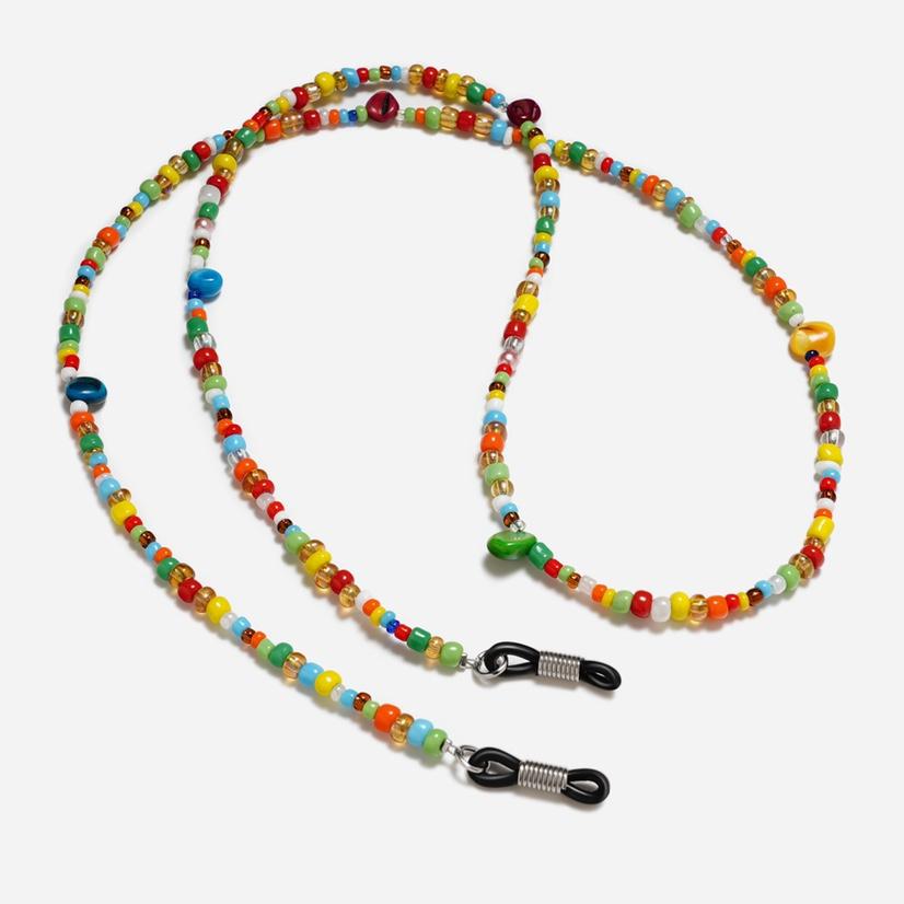 可爱文艺 串珠眼镜绳 眼镜挂链 七彩串珠眼镜挂绳眼镜