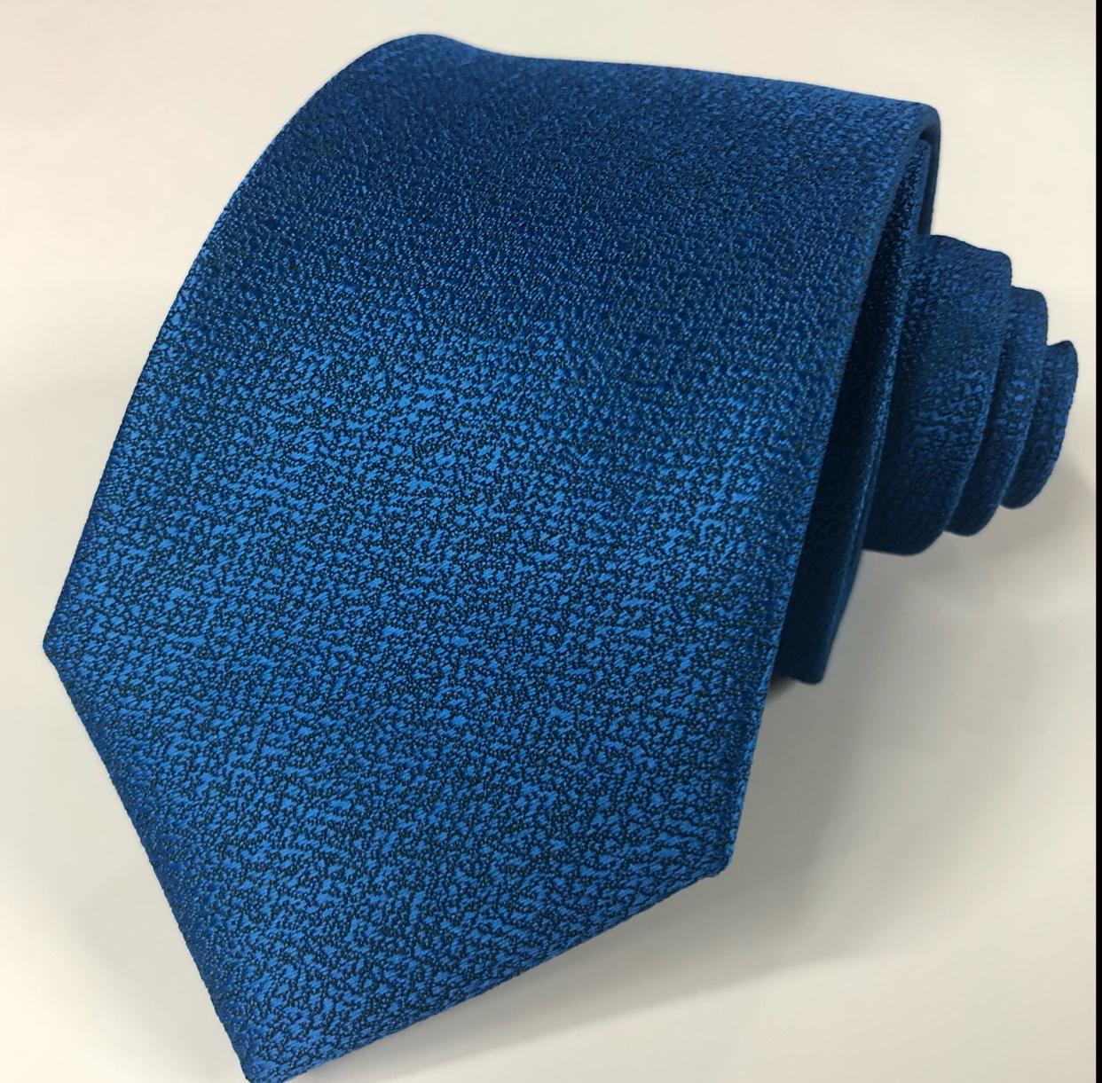 男士领带浅蓝色涤纶领带编织提花纯色领带工厂
