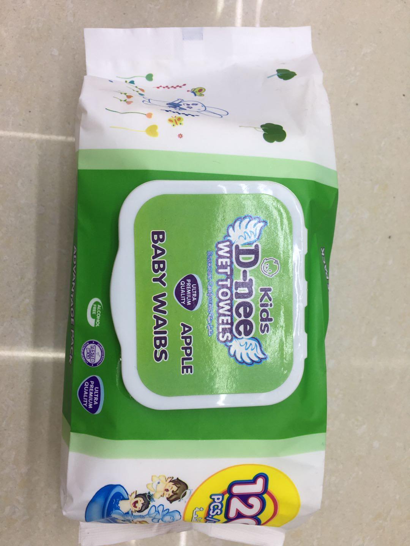 120片超大包装宝宝护肤带盖抽取式一次性湿巾