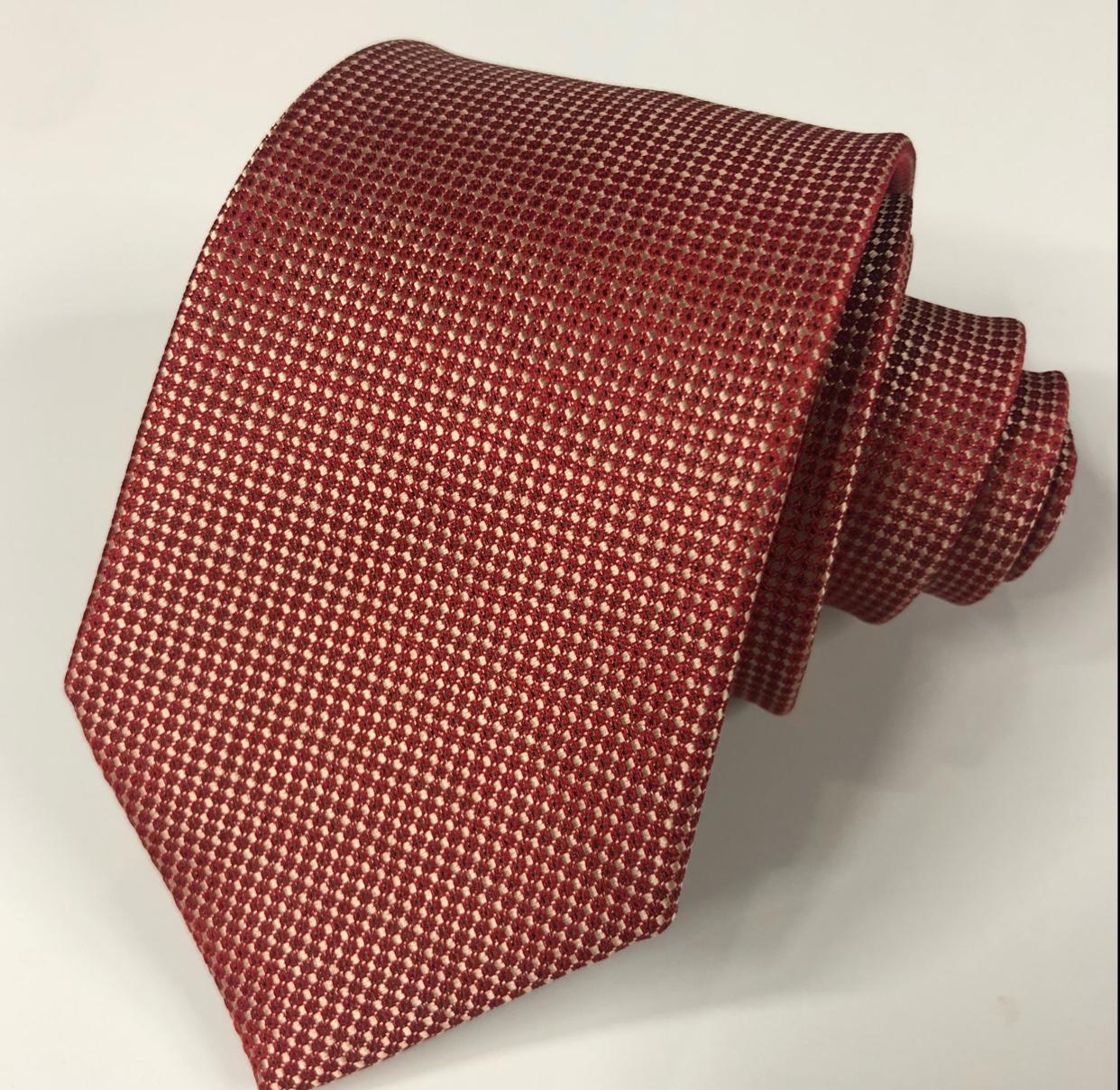 橘色男士领带时尚涤纶批发工厂直销