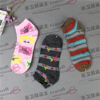 男袜女袜童袜批发现货纯棉细条纹短袜 复古学院风日系袜子女百搭