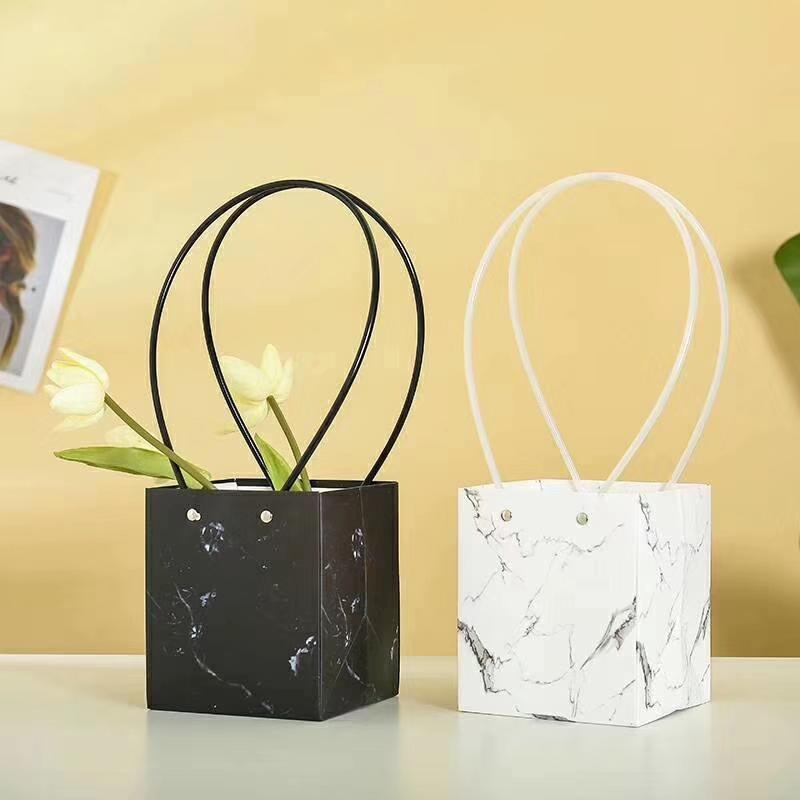 大理石纹鲜花礼品包装袋