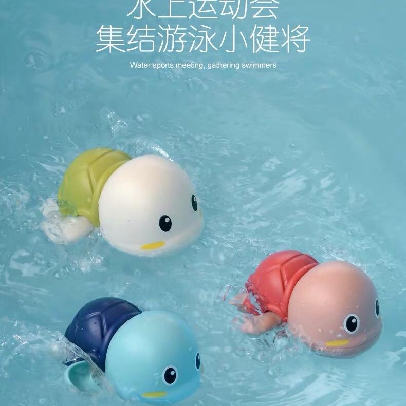 宝宝洗澡玩具儿童游泳戏水小乌龟婴儿小鸭子男女孩沐浴喷水抖音款