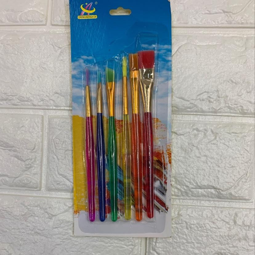 6支画笔,水粉画笔,水彩画笔