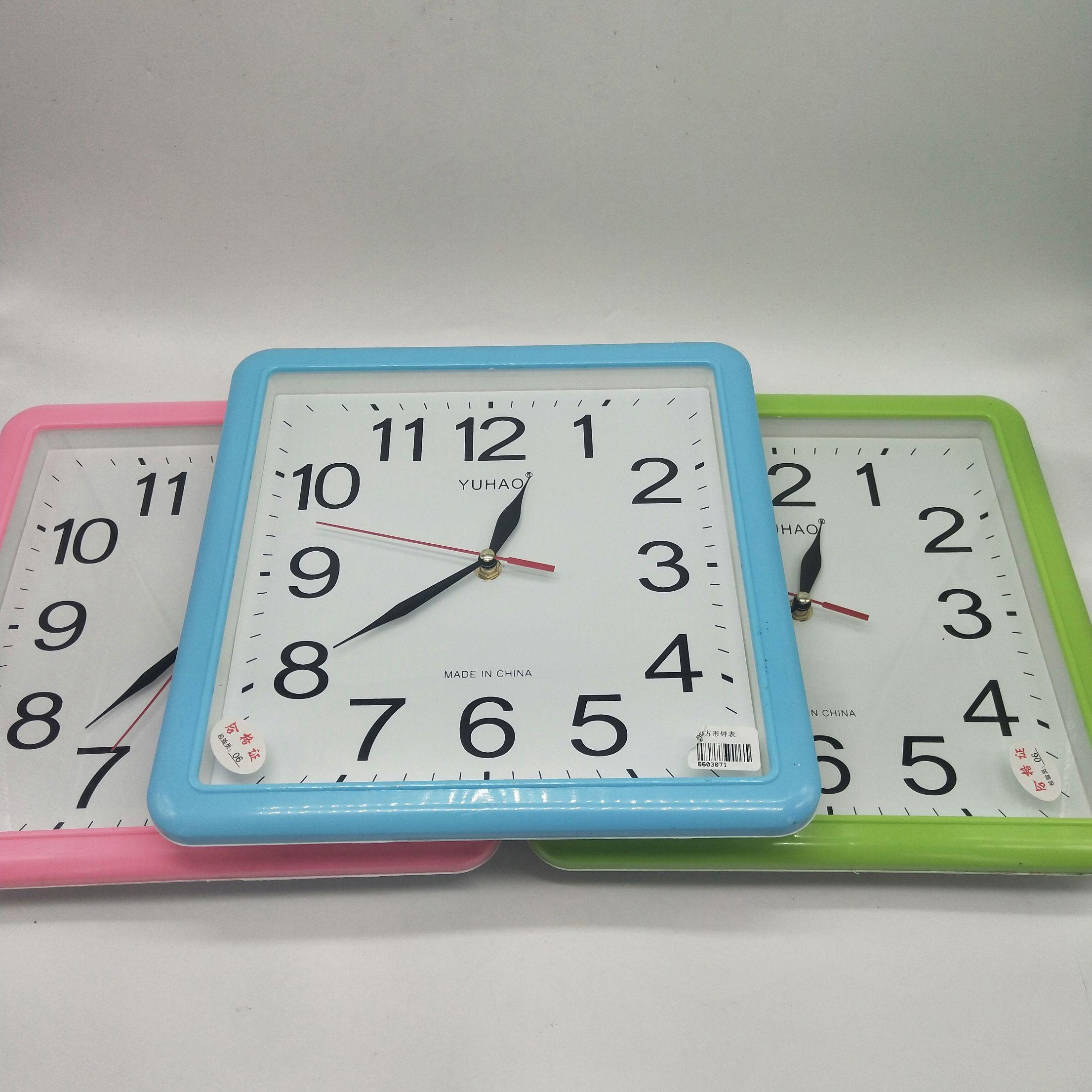 方形走针钟表家用客厅挂式钟表6603方形钟表家居专用