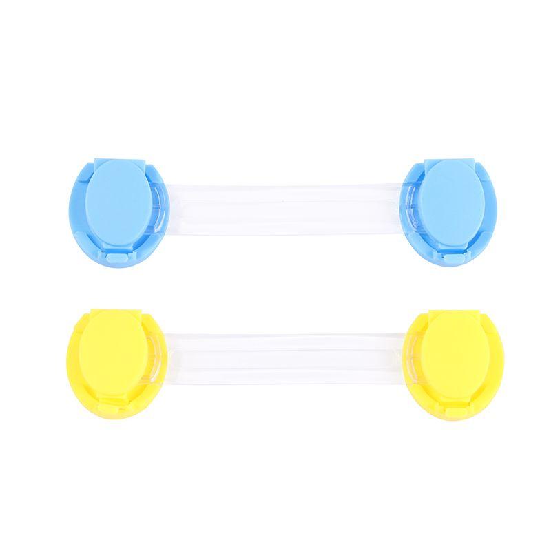 儿童安全锁多功能宝宝防夹手抽屉锁冰箱室内门锁婴儿安防透明长锁