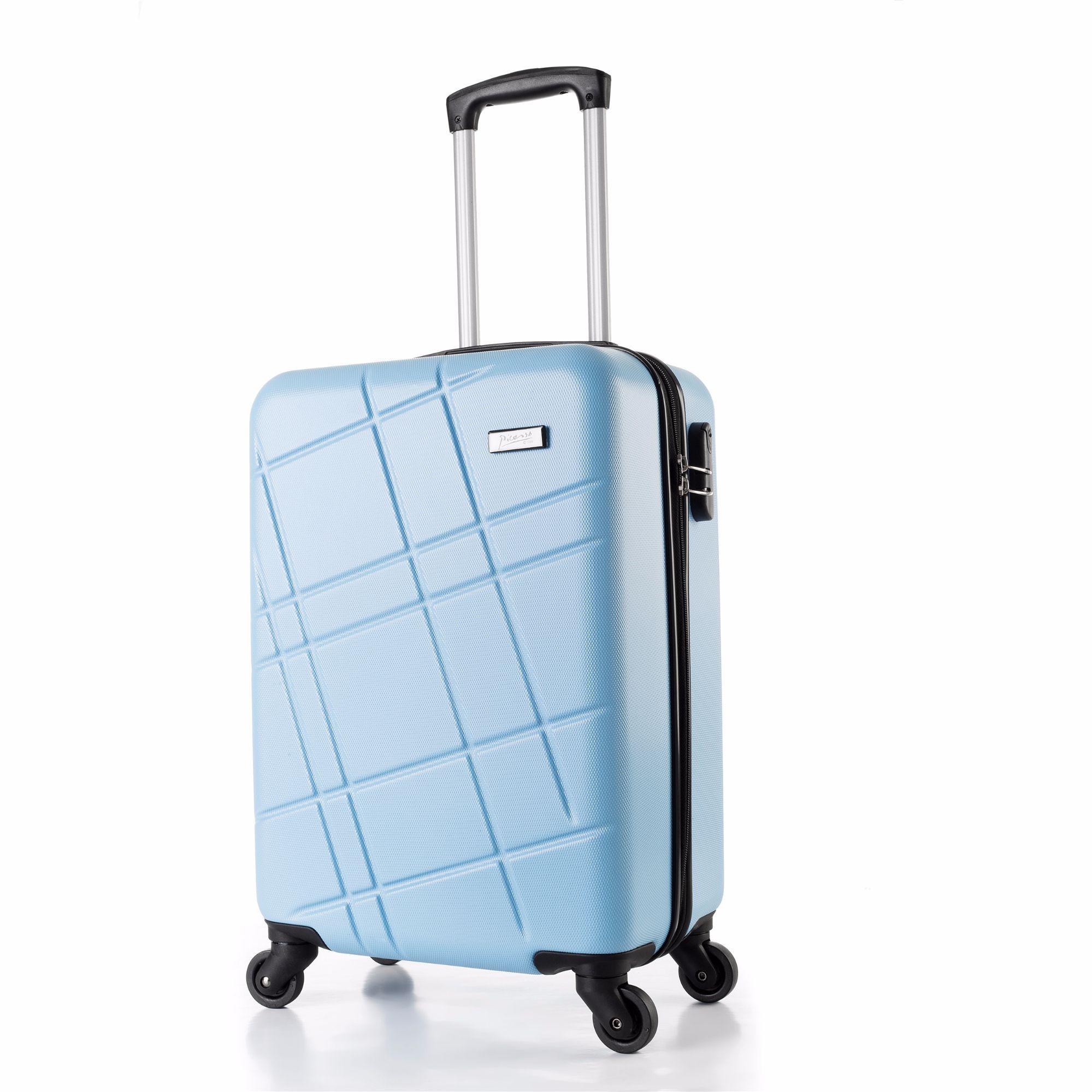 麦吉毕卡索拉杆箱登机箱行李箱拉链旅行箱万向轮2密码静音ABS