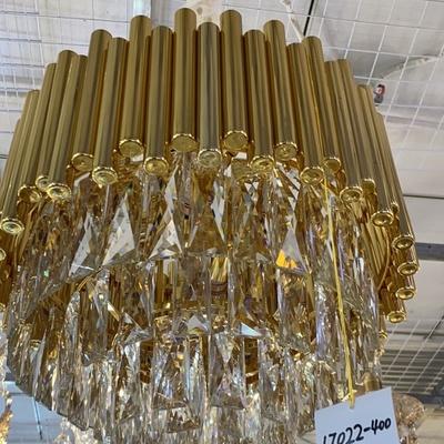 水晶吊灯材料是铁有水晶玻璃17022/400