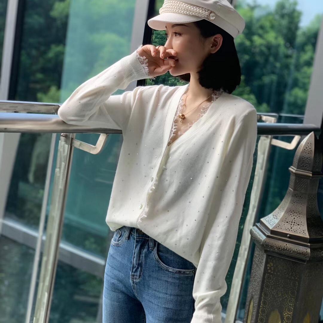 新款韩版宽松百搭时尚休闲开衫毛衣