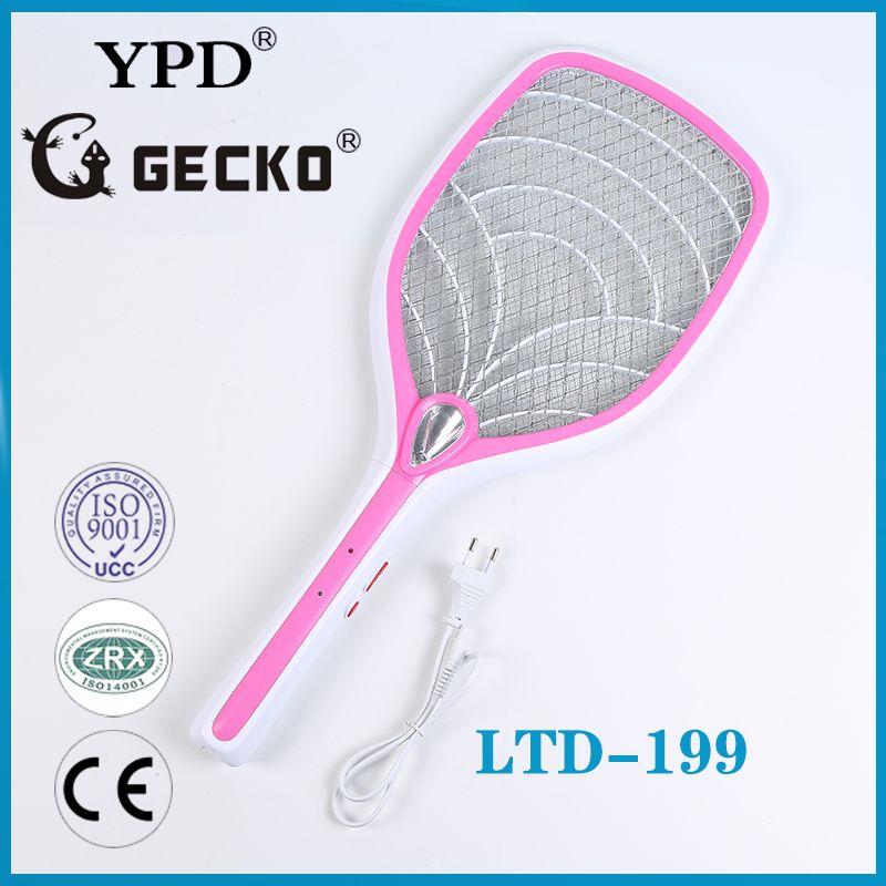厂家直销GECKO-LTD-199超高品质带电源线锂电池充电式电蚊拍