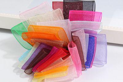鼎信织带0.6CM尼龙雪纱丝带饰品带蝴蝶结服装辅料包装 彩带