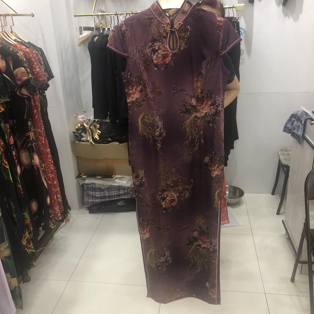 夏季丝绸旗袍日常改良优雅大气修身风连衣裙中长款女