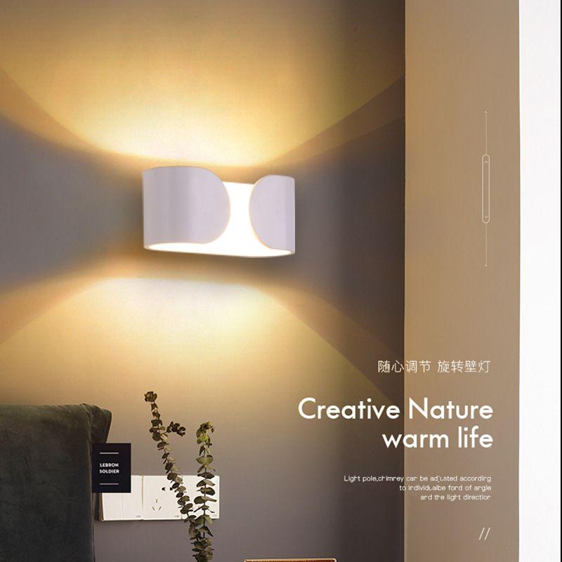 现代简约床头壁灯LED卧室 床头 客厅 楼道 书房 餐厅创意北欧灯