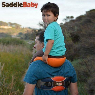 G户外SaddleBaby儿童马鞍肩背带宝贝马鞍肩 亲子户外运动背凳