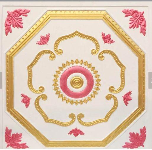 彩色压花  石膏板 方形  天花板 多色