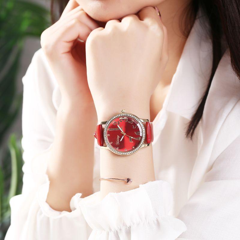 数字设计镜面网红女士手表