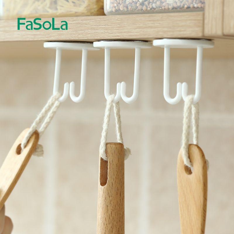 简约分支挂钩3个小户型无痕浴室厨房门后墙壁免打孔强力粘胶挂钩