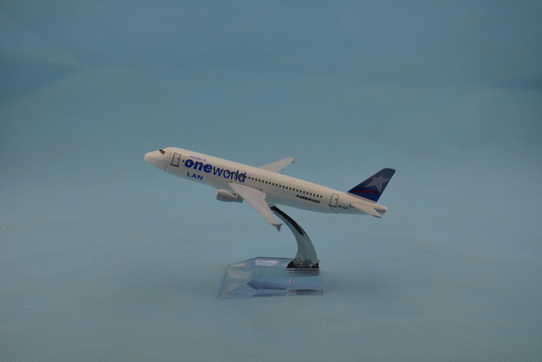 飞机模型(16CM智利LAN航空公司A320)合金飞机模型仿真飞机模型