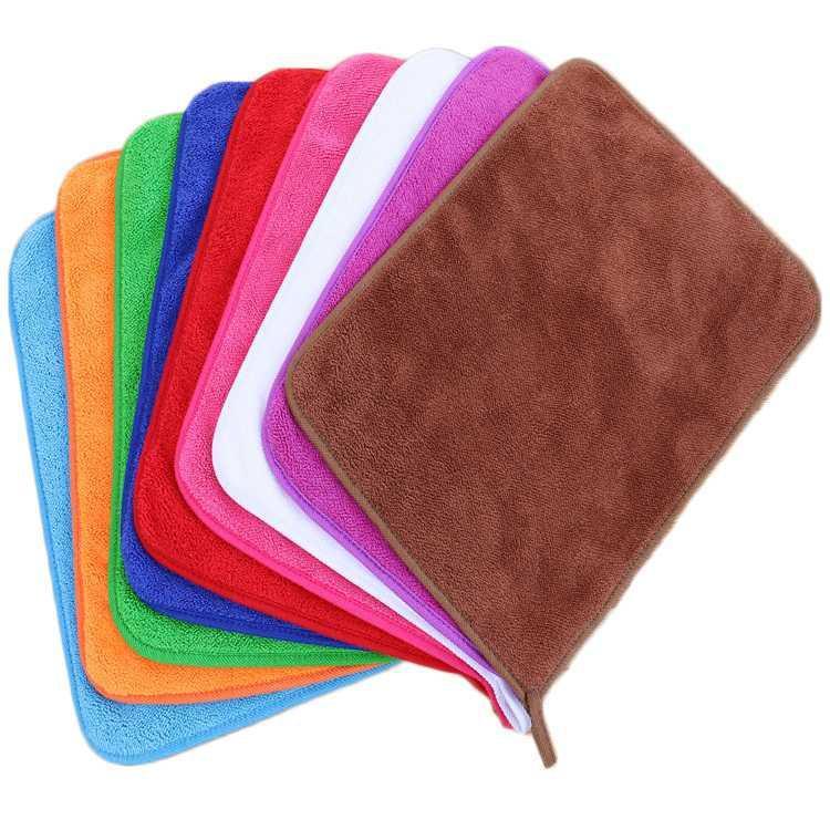 厂家直销600g双层加厚珊瑚绒抹布地板百洁布擦地吸水厨房清洁洗碗布 30*40