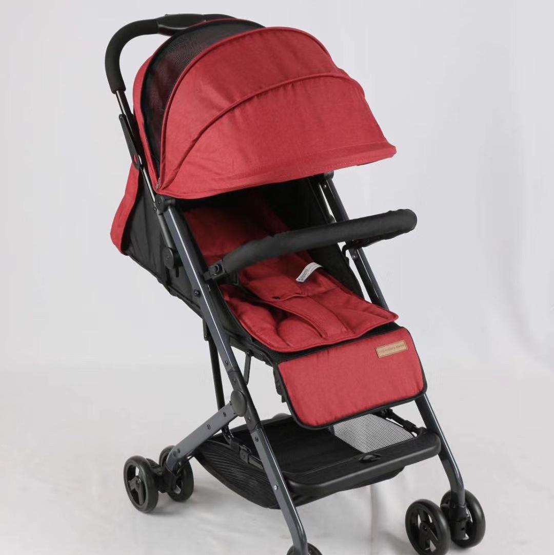 婴儿推车可坐可躺超轻便拉杆式折叠四轮减震儿童手推车 铝合金拉杆推车