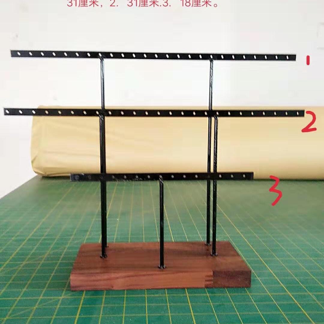 耳环展示架 实木铁架