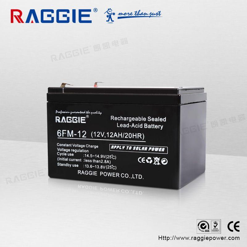 厂家直销太阳能免维护蓄电池,铅酸深循环蓄电池RG-6FM-12AH 12V