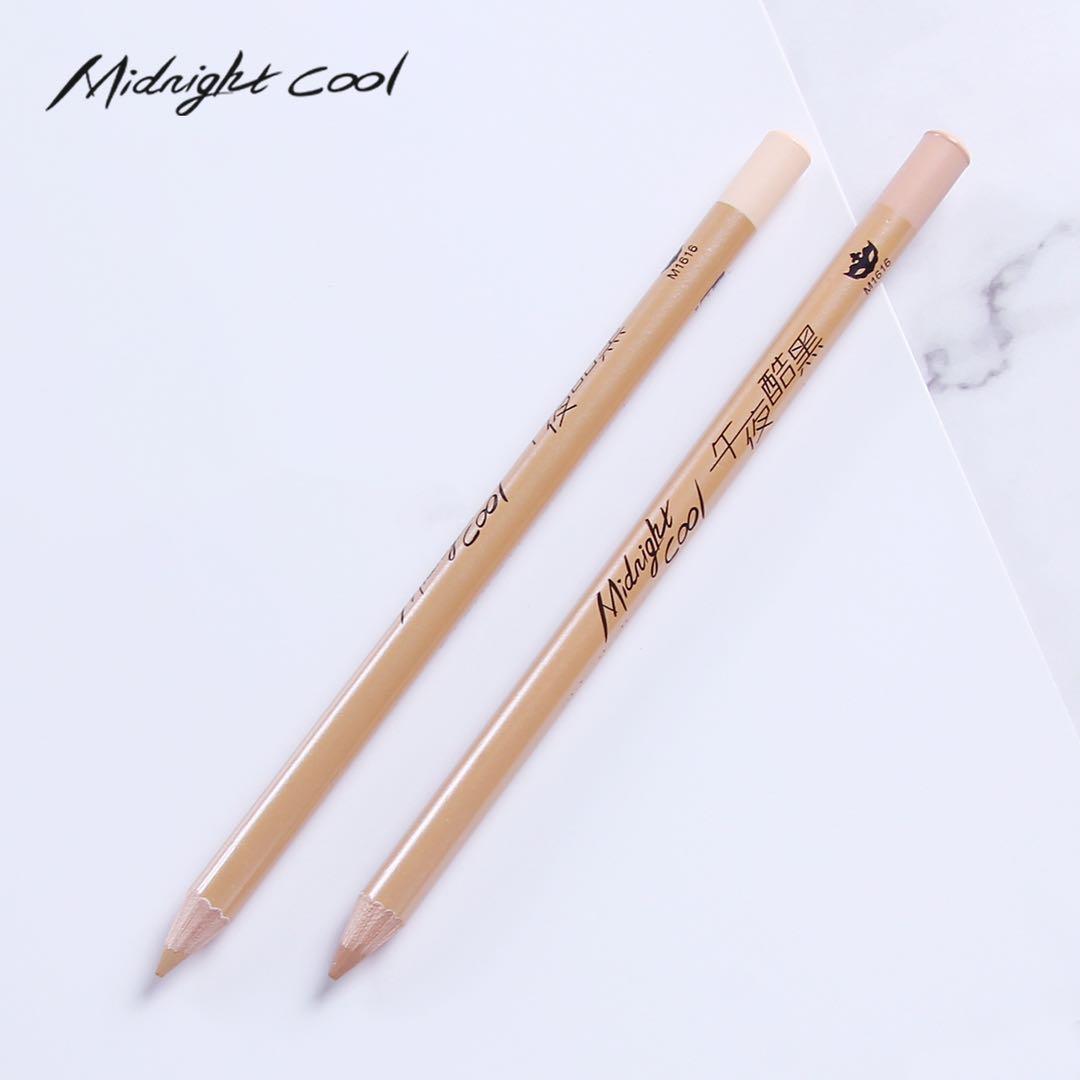 午夜酷黑木杆防水3D遮瑕笔 天然植物化妆笔 无痕修容笔 一件代发