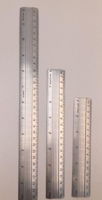 15CM 20CM 30CM铝合金直尺适用于老师和学生绘图用的