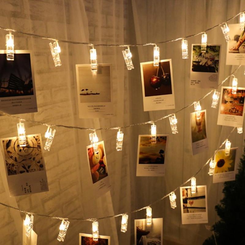 LED彩灯透明夹子背景相册夹婚庆圣诞节日灯厨窗派对装饰灯