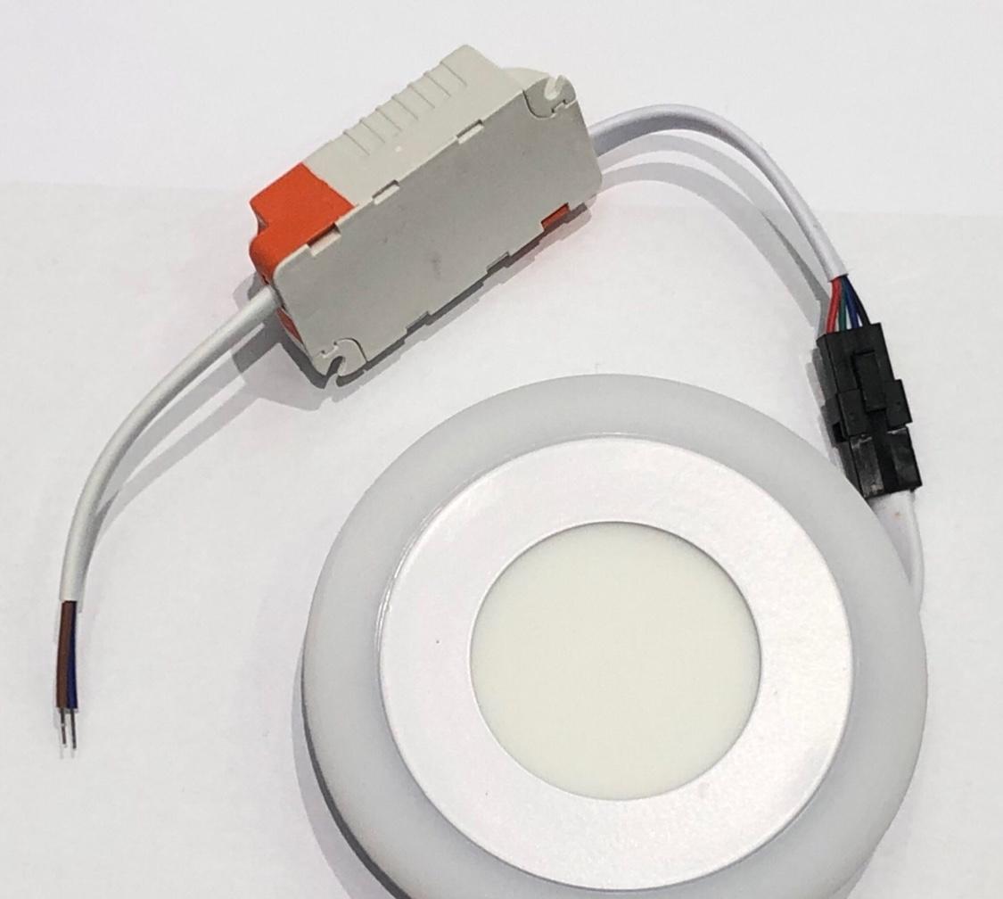 暗装圆形常规双色面板灯3+3瓦