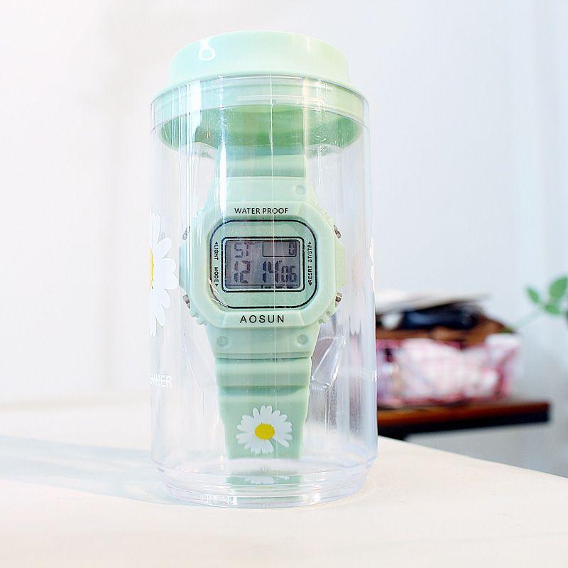 韩版ins权志龙小雏菊手表缺口雏菊电子表腕表简约小雏菊情侣手表