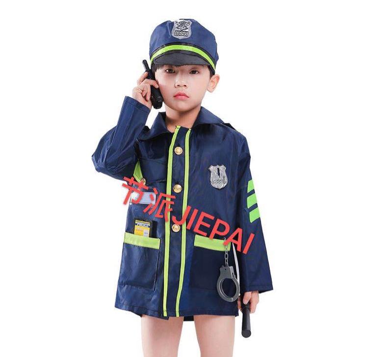 k0023小警察职业装表演衣服派对衣服表演服装警察服