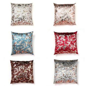 新款沙发靠垫样板房靠枕抱枕含芯不倒绒边花绒烫金烫银厂家直销