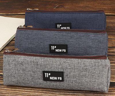 男初中生文具盒帆布铅笔袋小学生潮酷小众韩国大学生